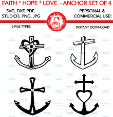 anchors svg faith love hope anchors svg dxf studio3 png