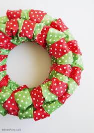 christmas ribbon diy easy christmas ribbon wreath party ideas party printables