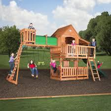 woodridge ii wooden swing set swingsetmall com