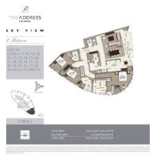 floor plans the address sky view towers downtown dubai by emaar