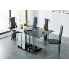 chaises table manger tribeca ensemble table à manger de 6 à 8 personnes 4 chaises