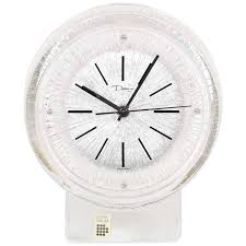 daum thor crystal desk clock