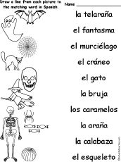 match words to pictures holiday halloween pinterest