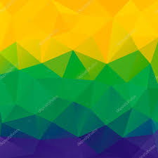 Brizil Flag Abstract Polygon Background Brazil Flag Colors Vector U2014 Stock