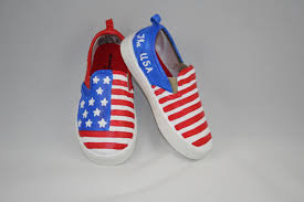 American Flag Shoes Hand Painted Patriotic Shoes American Flag Shoes Toddler And