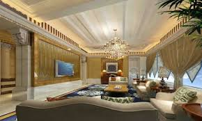 decor great room ideas with modern chandelier plus wall mount tv