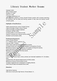 Librarian Resume Student Worker Resume