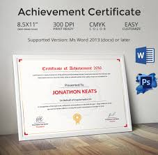 psd certificate templates free format download elegant achievement certificate template
