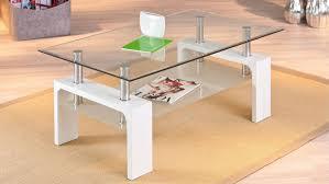 Wohnzimmer Glastisch Deko Alva Glastisch Wohnzimmer Tisch In Weiß Und Glas