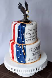 Dessert Flags The Cake Flower Eagle Scout Cake Gumpaste Flag Drapery Attach