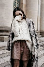 bfw cable knit sweater with checked coat u2022 the fashion cuisine
