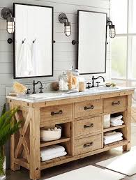 Pottery Barn Bathroom Vanities Rustic Master Bathroom With Inset Cabinets Pottery Barn