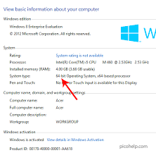 How To Check If You by How To Check If Windows 8 Is 32 Bit Or 64 Bit Version Picohelp
