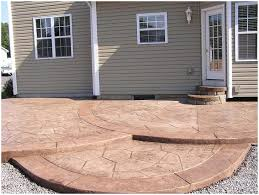 Concrete Backyard Patio by Backyards Beautiful Seating Wall Fire Pit And Stamped Concrete