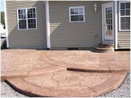 Backyards  Wonderful Brick Patio Design Ideas  Small Concrete - Concrete backyard design ideas