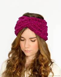 crochet hair band chunky criss cross headband crochet pattern via hopeful honey