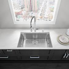 Vigo Kitchen Faucet Shop Vigo 30 0 In X 19 0 In Single Basin Stainless Steel