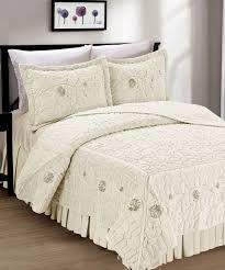 Faux Fur Comforter Faux Fur Ribbon Embroidery Bedspread Set Bnf Home Inc