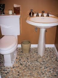 Unique Bathroom Floor Ideas Mixed Pebble Tile Bathroom Ewdinteriors
