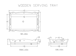 learn how to build a wooden serving tray free woodworking plans