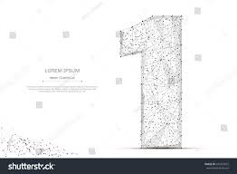 abstract mash line point number one stock vector 691423825