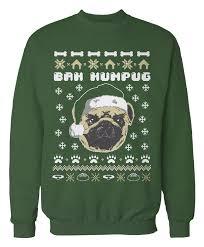 pug sweater bah humpug pug sweater holidays