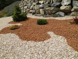 Red Landscape Rock by Home Landscape With Black Lava Rocks And Earth Tone Rocks