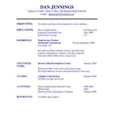 high school student resume sle resume objectives for high school students best of high