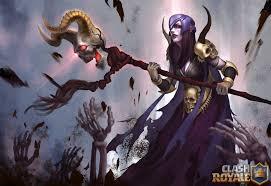 clash of clans fan art artstation classy royal fan art work witch u0027skull queen