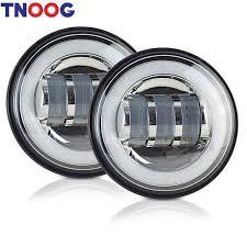 white led motorcycle light kit 2pcs 4 5inch led motorcycle headlight fog light white halo ring kit