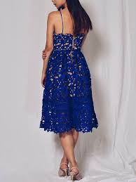 blue lace dress alyssa lace midi dress in cobalt blue summer co