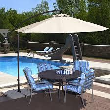 Black And White Striped Patio Umbrella by Outdoor Blue And White Striped Patio Umbrella Offset Umbrella
