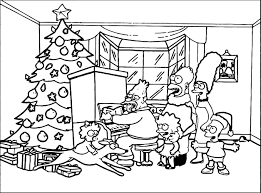 the simpsons xmas coloring page wecoloringpage
