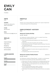 exles of resumes for restaurant resume points for hostess ideas entry level resume templates