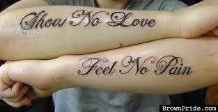 show no love feel no pain love itttttt ink u0027d upp pinterest