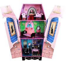 amazon com teamson kids vampire villa coffin wooden doll house