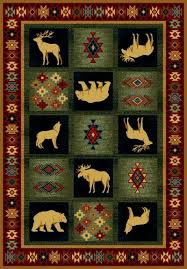 Rustic Lodge Rugs Ageless Beauty Lodge Area Rug Cabin Place