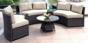 Rattan Curved Sofa Curved Benches Outdoor Foter