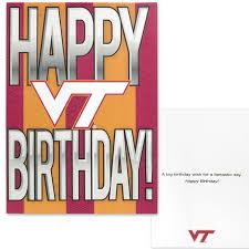 virginia tech happy vt birthday card u2013 campus emporium