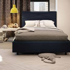 taylor double bed dark navy blue