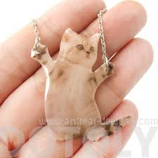 adorable kitten hug baby kitty cat hind legs pendant necklace