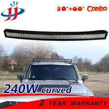 curved marine led light bar 42inch 240w curved led light bar flood spot driving ls off road
