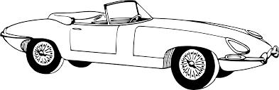 cartoon sports car black and white clipart sportscar