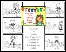 facebook fan freebie character trait coloring pages savvy