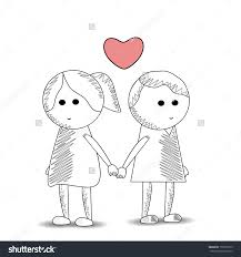 cute sketches of couples holding hands drawing of sketch