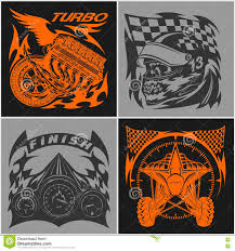sports car logos auto racing emblems sport car logo illustration on dark and