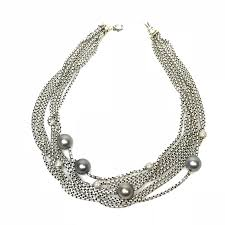 jewellery pearl necklace images David yurman multi strand pave diamond and black pearl necklace png