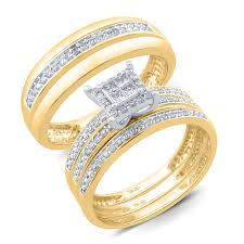 gold set for marriage rings diamond sears