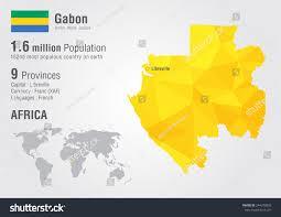 gabon in world map gabon world map pixel texture stock vector 244370893