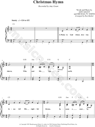grant christmas grant christmas hymn sheet in c major